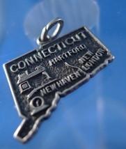travel souvenir map charm CONNECTICUT Beau Sterling - €18,63 EUR