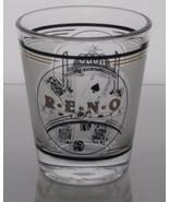 Reno Souvenir Shot Glass Shotglasses Nevada - $8.99