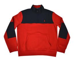Polo Ralph Lauren Men's Jersey 1/4 Zip Golf Pullover, Red, Medium 7070-6 - $141.37