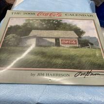 autographed 2008 coca cola calendar Signed By Jim Harrison - $37.39