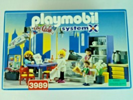 Playmobil System X City Cafe Complete Set Vintage 1997 New Old Stock - $123.49