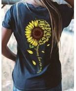 Sunflower Jeep You Are My Sunshine Ladies T-Shirt Black Cotton S-3XL - $19.75+