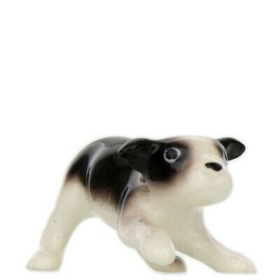 Hagen Renaker Dog Boston Terrier Pup Ceramic Figurine