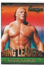"""2003 Fleer WWE Aggression """"Brock Lesnar"""" Ring Leaders Trading Card (Mint... - $4.94"""