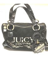 Juicy Couture Dark Black Small Satchel Handbag Purse - $50.00