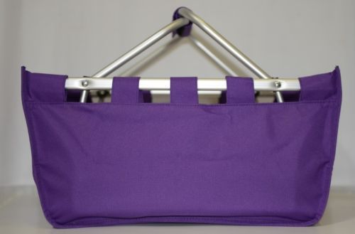 WB Brand MarketPur Large Purple Market Tote Collapsible