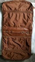 Vintage Samsonite Brown Hanging Garment Suit Soft bag with Hangers Travel Bag - $20.00