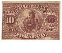 TF10 Manufactured 32c Tobacco Stamp, Series of 1868, 10 pounds - $129.00