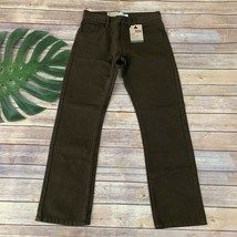 Levis Kids 513 Boys Slim Straight Leg Jeans Size 14 Regular New Brown Co... - $24.74
