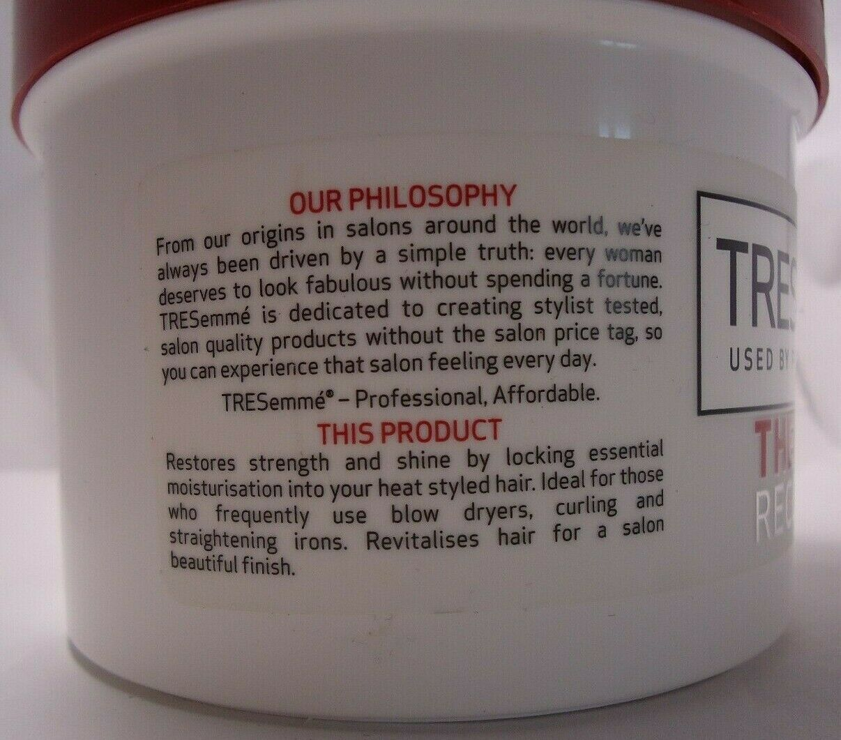 TREsemme Thermal Recovery intense repair & Rehydration treatment masque n 500ml