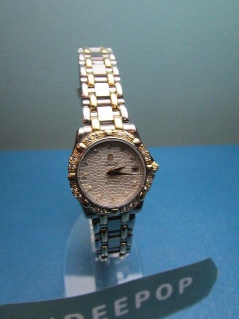 Primary image for Vintage Concord Ladies Saratoga SL Silver Gold With Diamond Watch 16-36-275