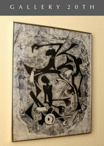 """ORIGINAL AFRICAN ART BATIK! """"JAM SESSION"""" B&W RARE 1960S MID CENTURY TEX... - $1,350.00"""