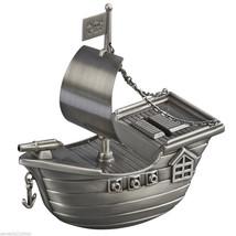 Metal Pirate Ship Kids Coin Money Piggy Bank  FREE SHIPPING - $34.64