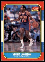 1986-87 Fleer Basketball Premier Vinnie Johnson Detroit Pistons #56 - $0.50