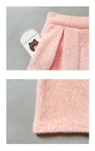 Women Winter Warm Wool Skirt Midi Full Pleat Skirt Winter Party Skirt,BLUSH PINK image 6