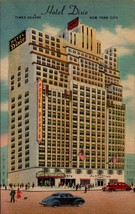 LINEN POSTCARD- HOTEL DIXIE, TIME SQUARE,  NEW YORK CITY, NY  BK23 - $2.21