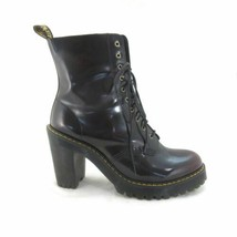 11 - Dr Martens Kendra Cherry Leather Lace Up Heeled Boots $170 NEW w/Bo... - €115,29 EUR