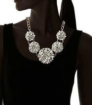 Cohesive Jewels Floreale Perle Finte E Cristalli Swarovski Collana Grande image 2