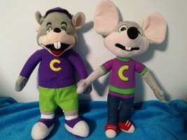 "2 Chucky Cheese Pizza Plush Mouse Collector Toys 13"" - $13.95"