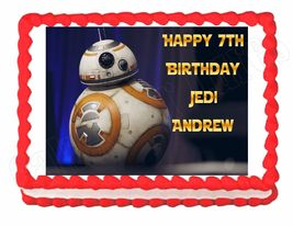 Star Wars The Force Awakens BB-8 Edible Cake Image Cake Topper - $8.98+