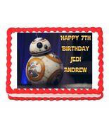 Star Wars The Force Awakens BB-8 Edible Cake Image Cake Topper - $8.98+