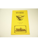Vtg 1989 USS YORKTOWN CV-5 CLUB THE YORKTOWN CRIER BOOKLET WWII VETERAN - $14.99