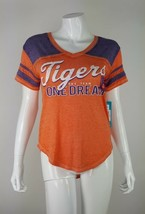 Clemson Tigers NFL One Team One Dream Juniors Medium 7/9 Orange V-Neck T... - $12.19