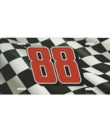 Dale Earnhardt Jr. #88 Aluminum Metal Vanity License Plates (Checkered F... - $10.95