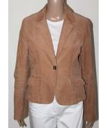 BANANA REPUBLIC Women's Size 6 Tan Brown Fully Lined Corduroy Blazer Jac... - $32.89