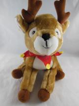 "Vintage Christmas Hallmark Rascal Reindeer Plush 8"" tall Soft clean CUTE! - $9.89"