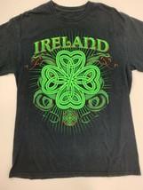 Ireland Snakes Black Green T-Shirt Size L - $10.77