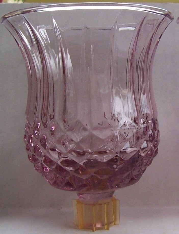 Primary image for Home Interiors Cathedral Diamond Votive Cup Plum/Cranberry Candle Holder (1)