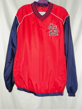 MLB St. Louis Cardinals Stitched Windbreaker Pull Over Crew Neck Jacket.... - $24.75