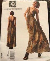 VOGUE V1354 Anne Klein Designer Original Formal Dress Misses Size 6-14 Uncut - $24.47