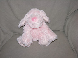 "First Impressions Pink Puppy Dog Shaggy Plush Stuffed Animal Baby Toy Macy's 10"" - $30.09"