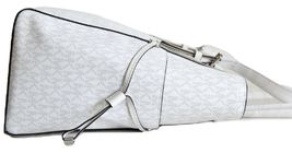 NWT MICHAEL KORS VOYAGER SIGNATURE EAST WEST TOTE BRIGHT WHITE image 8