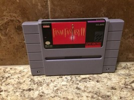 Final Fantasy II 2 ☆☆ Authentic, Rare Title ☆☆ - SNES Super Nintendo FF2... - $47.40