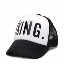 2019 new KING QUEEN Baseball Cap Print Men Women Polyester Mesh Summer V... - £7.43 GBP