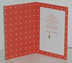 Hallmark XZH 593 4 Stocking Red Green Ornaments Christmas Card Package 3 image 2