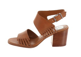 Vince Camuto Leather Heeled Sandals- Karmelo Brick 9M NEW A353439 - $81.16