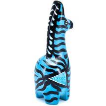 Crafts Caravan Hand Carved Soapstone Striped Blue Giraffe Figurine Made Kenya image 5