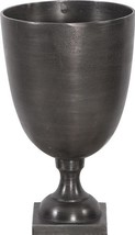 Footed Vase Howard Elliott Chalice Square Base Small Raw - $169.00