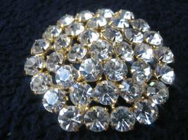 Clear rhinestone pin all great stones looks mint - $10.88