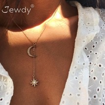 Jewdy® Boho Jewelry Multi Layer Crystal Moon Star Choker Necklaces For W... - $2.85