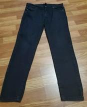FOREVER 21 Womens Jeans Sz 29 Black Skinny Low Rise Cotton Stretch Casua... - $8.99