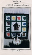 Time for Tea Quilted Applique Wall Hanging Pattern - $7.99