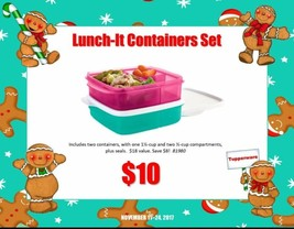 tupperware divided  lunch it containers. set of 2 - $10.00