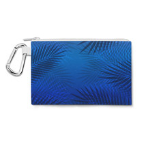 Tropical Night Palm Tree Canvas Zip Pouch - $15.99+