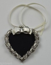 Longaberger Pewter Heart Tie-On / Frame Collectible Accessory Home Decor... - $15.99
