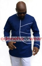 Odeneho Wear Men's  Polished Cotton Classic Top And Bottom. African Clothing. - $118.80+